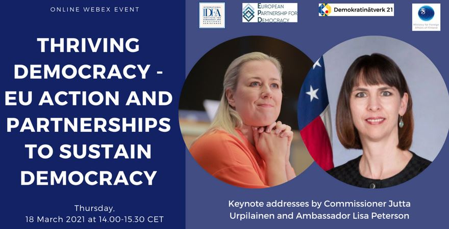 Thriving Democracy - EU Action and Partnerships to Sustain Democracy