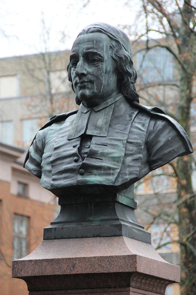 Anders Chydeniuksen rintakuva Kokkolassa, Walter Runeberg 1903.