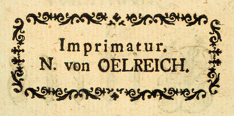 Ennen painovapausasetuksen säätämistä kaikkien julkaisujen oli saatava sensorin hyväksyntä, minkä merkiksi kirjoihin painettiin Imprimatur (