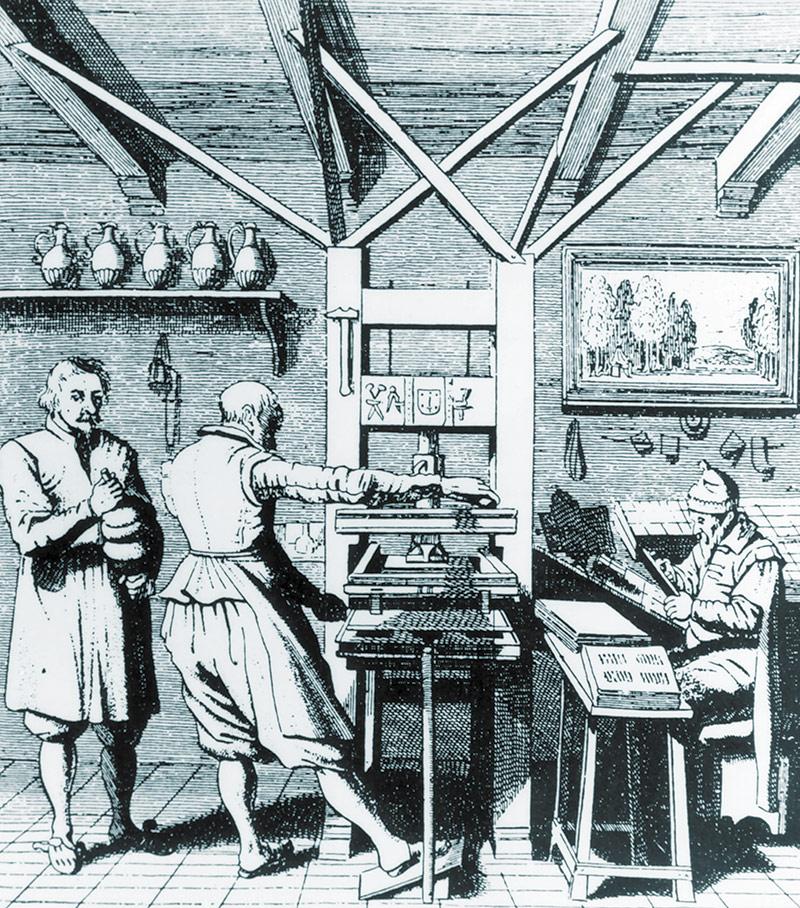 Kirjojen painaminen oli 1700-luvulla hidasta ja kallista käsityötä, joten kustannukset rajoittivat käytännössä esim. asiakirjojen julkaisemista.