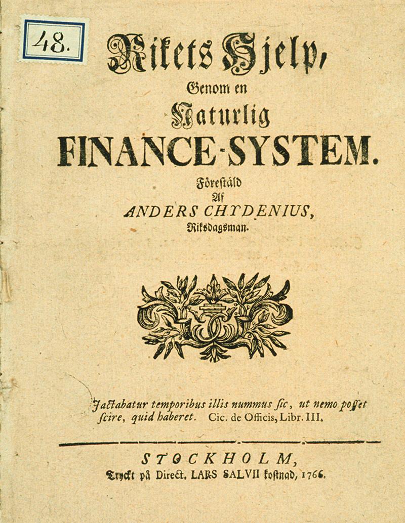 Chydenius törmäsi itse niihin sananvapauden rajoituksiin, joita hän kiivaasti vastusti. Säätyjen tekemää päätöstä arvostellut rahapoliittinen kirjoitus Valtakunnan pelastaminen luonnollisen rahajärjestelmän avulla (1766) johti lopulta karkotukseen valtiopäiviltä.